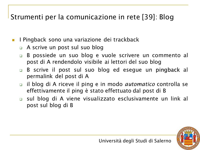 Strumenti per la comunicazione in rete [39]: Blog